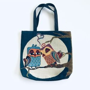 Handbags - Lovebirds Tote tapestry like material front